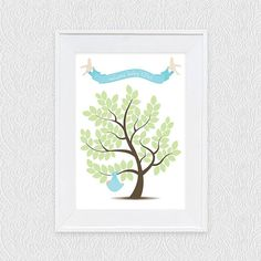 baby signature guest book tree  printable file by iDIYjr on Etsy, $20.00