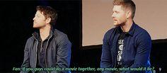 Cockles, Misha Collins, Jensen Ackles, Beautiful Eyes, Actors, Supernatural, Ships, Meme, Fandoms