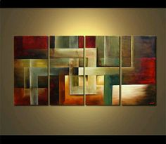 Modern abstract painting by the artist Osnat Tzadok. Choose from thousands of modern, contemporary and abstract paintings in this online art gallery. Artwork: 'Back to Square One', dimensions: Contemporary Abstract Art, Abstract Wall Art, Abstract Paintings, Modern Contemporary, Modern Paintings, Modern Artwork, Online Art Gallery, Pop Art, Canvas Art