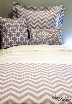 Lavender Chevron Bedding Set | Dorm Bedding