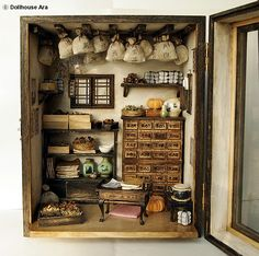 Traditional oriental Herbal Medicine Shop handmade by DollhouseAra, really outstanding miniatures.