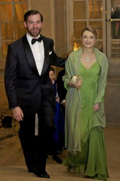 Prince Guillaume with his wife Princess Stephanie Hereditary Grand Duke/Duchess of Luxembourg