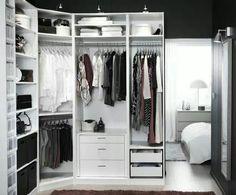 Small space walk in wardrobe idea