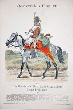 """Hand Colored Print from """"Uniformenkunde"""" by Richard Knotel: Oesterreich-Ungarn in Art, Art from Dealers & Resellers, Prints Les Balkans, Kaiser Karl, Colonel, Military Insignia, Empire, Napoleonic Wars, Modern Warfare, Hand Coloring, Military Uniforms"""