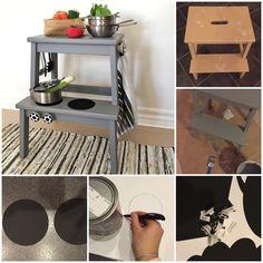 Her kommer lige en lille sjov DIY. Jeg fik min inspiration frabloggen Østfronten. Smart til det lille hjem eller til at tage med ud i køkkenet i mens der bliver lavet mad. Malte hygger sig med, at han kan lave mad sammen med sin mor. Han er lynhurtigt til at kopiere og rører rundt i sine små g.... Baby Room Diy, Diy Baby, Deco, Smart Tiles, Kids Toys, Repurposed, Activities For Kids, Diy And Crafts, Interior