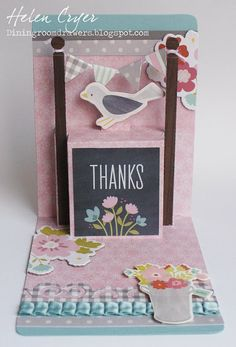The Dining Room Drawers: Pop 'n Cuts 'Front Porch' Thank You Card Elizabeth Craft Designs, Scrapbook, Pop Up Cards, Paper Cards, Front Porch, Thank You Cards, Lantern, Card Ideas, Pup