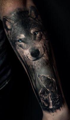 Wolves wolf tattoo forearm, jack tattoo, wood tattoo, random tattoos, s Wolf Sleeve, Wolf Tattoo Sleeve, Sleeve Tattoos, Forest Tattoo Sleeve, Wolf Tattoos Men, Animal Tattoos, Tattoos For Guys, Random Tattoos, Wolf Tattoo Design