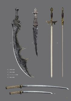 Pin by guip booi on Stuff t Weapons Concept art and Fantasy Sword, Fantasy Weapons, Fantasy Armor, High Fantasy, Dark Fantasy Art, Dark Souls Art, Mystical World, Sword Design, Anime Weapons