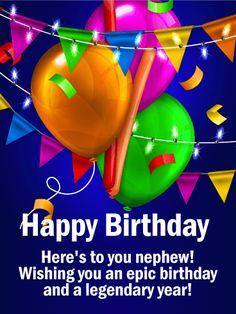 Happy Birthday Card For Nephew