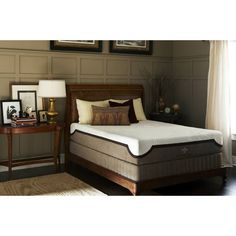 Stearns and Foster� Monogram Annalise Memory Foam