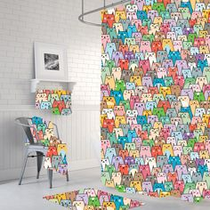 Your place to buy and sell all things handmade Cat Shower Curtain, Bathroom Shower Curtains, Curtains, Bathroom, Home Decor, Bathroom Decor, Shower Curtain