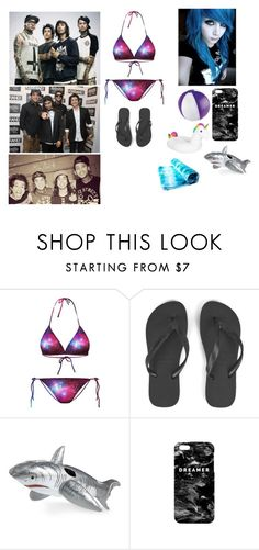 """""""Beach Day With Pierce The Veil"""" by mysterious-emo-girl ❤ liked on Polyvore featuring Chicnova Fashion, Havaianas, Wembley and Mr. Gugu & Miss Go"""