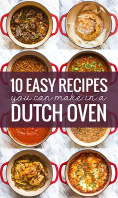 Dutch Oven Recipes Stay warm this winter with 10 easy recipes from Pinch of Yum you can make in a Lodge Enamel Dutch Oven. AD Lodge Cast Iron is a family-owned company in the USA, and their cookware can be used everywhere — from the stovetop and oven to Lodge Enamel Dutch Oven, Lodge Dutch Oven, Cooking With Cast Iron, Ceramic Dutch Oven, Dutch Oven Chicken, Oven Chicken Recipes, Duch Oven Recipes, No Oven Recipes, Gastronomia
