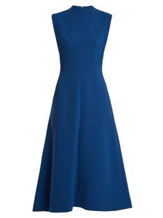 Elizabeth double-wool A-line midi dress Emilia Wickstead