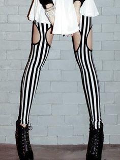 Striped Cut Out Leggings  $18.99