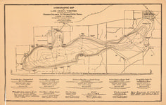 Map of the Day - August 29-Hydrographic Map of Lake Geneva #Wisconsin #Geology #Maps