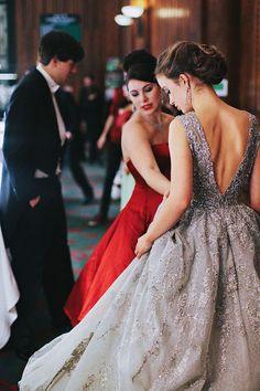 Lady Amelia Windsor in Elie Saab Haute Couture.   Le Bal 2014   Sea of Shoes