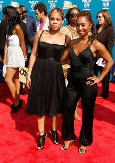 Chilli and T-Boz at the BET Awards 2008 - Arrivals