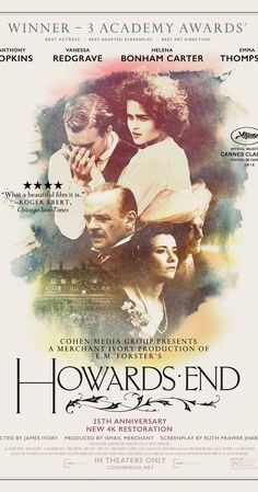 Directed by James Ivory. With Anthony Hopkins, Emma Thompson, Vanessa Redgrave, Helena Bonham Carter. A businessman thwarts his wife's bequest of an estate to another woman.