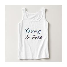 Young Free Basic Tank Top ($17) ❤ liked on Polyvore featuring tops, white tank, white top, white tank top, white singlet and shirts & tops