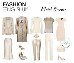 Metal Essence : FASHION FENG SHUI ® by briarjb on Polyvore featuring polyvore, fashion, style, Roland Mouret, Alexander McQueen, MaxMara, Hebe Studio, Theyskens' Theory, Sophia Webster, Rainbow Club, Valextra, Michael Kors and clothing