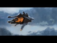 30 minutes speedpainting to warm up Sketchbook Designer, Paint Designs, Spaceship, Fighter Jets, Warm, Make It Yourself, Painting, Spacecraft, Space Ship