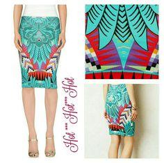 ***MARA HOFFMAN***Benigi Pencil Skirt*** Multi colored adorable sleek pencil skirt!!! Only worn once!!! Mara Hoffman Skirts Pencil