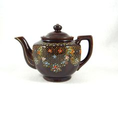 Moriage Redware Teapot by ElizaBellaDesigns on Etsy