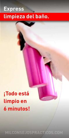 Express limpieza del baño. ¡Todo está limpio en 6 minutos! Clean House, Housekeeping, Wood Furniture, Cleaning Hacks, Personal Care, Inspirational, Kitchen, Farmhouse Rugs, Paper
