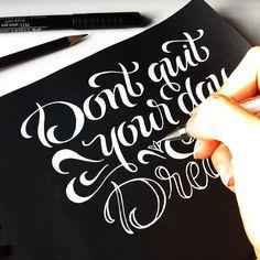 Instagram: 'Don't quit your day dream' by @ritakonik