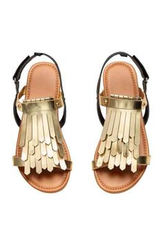 Sandalen met franjes