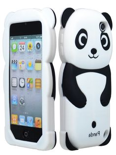 for Apple iPod Touch 5 Generation Panda Silicone Jelly Skin Cover Case Black Accessory