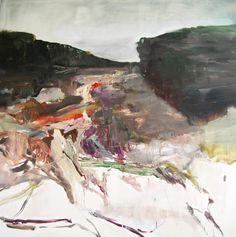 Edwige Fouvry, La colline, huile sur toile, 150x150 cm, 2012 ©