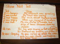 Show not tell mini lesson