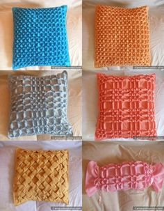 Delicious work in grids. I wonder how I could incorporate this in my next project. Textile Manipulation, Fabric Manipulation Techniques, Smocking Tutorial, Smocking Patterns, Diy Cushion Covers, Canadian Smocking, Handmade Gifts For Men, Sewing Alterations, How To Make Toys