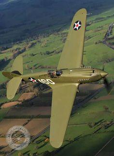 Curtis P-40 Warhawk fighter.