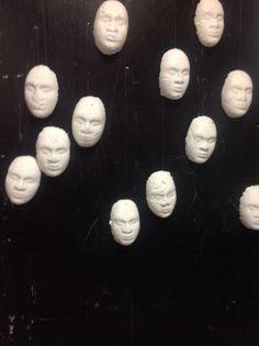 Paper Pulp Faces