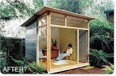can this be treehouse? Shed plans for the MD100 Modern Shed/Guest House from Readymade Magazine