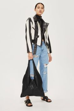 Sandra Leather Tote Bag - Bags & Purses - Bags & Accessories - Topshop