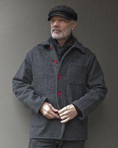 Le Laboureur Wool Work Jacket Grey