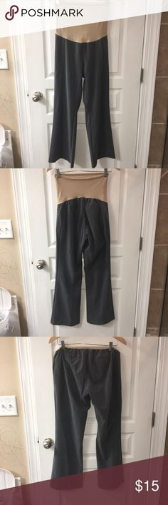 37431a939d8cb Full panel maternity dress pants GUC. Great, charcoal gray, wrinkle  resistant dress pants