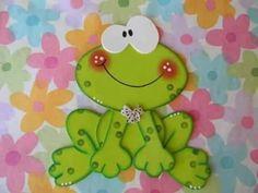Risultati immagini per sapitos en goma eva Frog Crafts, Diy And Crafts, Crafts For Kids, Arts And Crafts, Paper Crafts, Punch Art, Kids Cards, Paper Piecing, Clipart