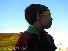 DIY Super Hero Cape by Regina (creative kismet), via Flickr