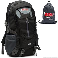 Black Backpack For Men  Water Repellant IGRU Sport Supremacy H52 With FREE Laundry Bag  40L Capacity 205 x 12 x 95 Inch  light 30 oz -- You can get additional details at the image link.