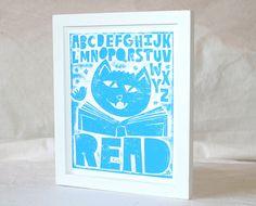 Wall Art, Nursery Decor, ABC Read Print, Baby Nursery art,  Fine Art Print. $20.00, via Etsy.