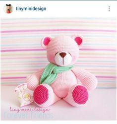Instagram @tinyminidesign ~ crochet amigurumi bear ~ pic only