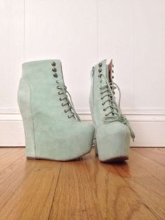 Jeffrey Campbell Damsel Mint Platforms $60