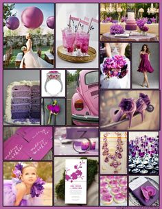An English Rose, Luxury Lifestyle Weddings - Pantone 2014 Color of the Year Radiant Orchid Wedding