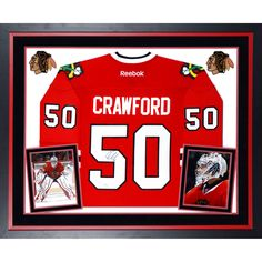 Corey Crawford Chicago Blackhawks Fanatics Authentic Deluxe Framed Autographed Reebok Premier Red Jersey - $639.99