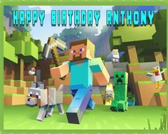MINECRAFT Characters 2 Edible Birthday Cake OR Cupcake Topper – Edible Prints On Cake (EPoC) Kit Minecraft, Minecraft Download, Minecraft Posters, Easy Minecraft Cake, Minecraft Characters, How To Play Minecraft, Minecraft Skins, Minecraft Survival, Minecraft Gameplay